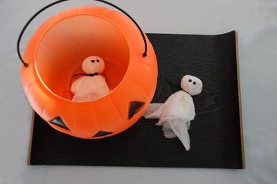Surprising Easy Diy Bean Bag Ghosts For Decoration Or Pumpkin Toss Ga Onthecornerstone Fun Painted Chair Ideas Images Onthecornerstoneorg