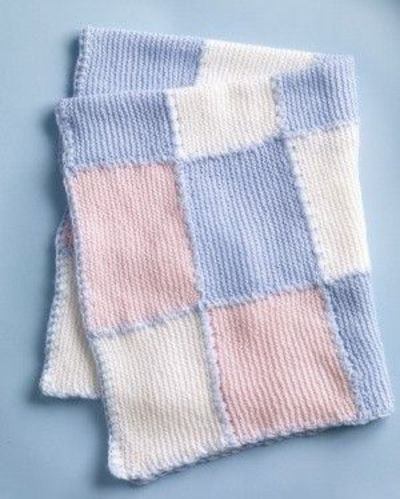 Knitting Patterns Blankets Patchwork : Faux Patchwork Baby Blanket Knit Pattern / knits and kits - Juxtapost