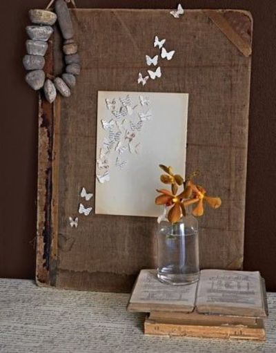 Beautiful, rustic, old book reclaimed