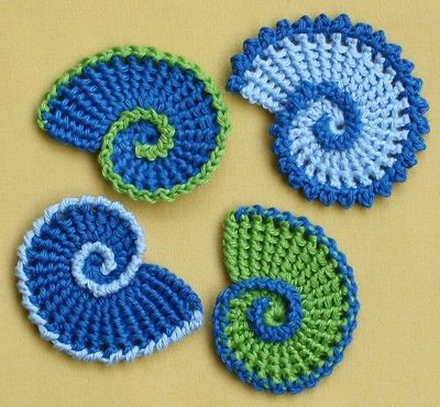 Crochet Patterns Pdf : ... Spiral, Nautilus - crochet pattern, PDF pattern by CAROcreated design