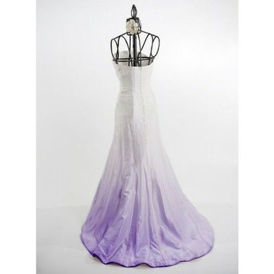 ombre dye in purple wedding dress gowns juxtapost