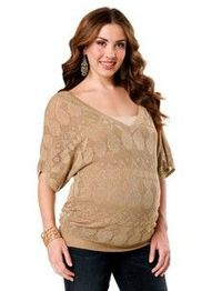 I love this light sweater! So chic for the belly! $34.99 at Motherhood Maternity online