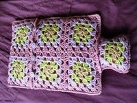 The Craft Attic: Granny Square Crochet Hot Water Bottle Cover