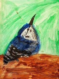 Bird watercolor paintings based on artist/naturalist John James Audubon in The Boy Who Drew Birds by Jacqueline Davis