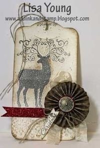 Stampin' Up! Two Tag Die by Lisa Young at Add Ink and Stamp: Christmas Deer Tag