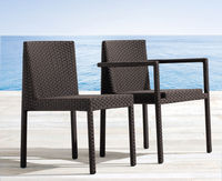 Allegro Classics-Versatile dining chair is built from strong aluminum framing and then completely wrapped with all weather SunWeave outdoor wicker. Available in arm or side chairs. Perfect for heavy use applications such as commercial cafes or bistros. Su...