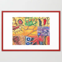 On the Wings of Angels framed art print