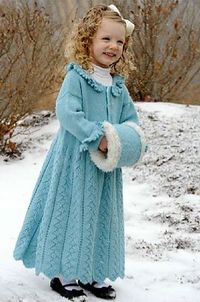 Free Knit Ravelry Snow Queen Sweater Coat Pattern By
