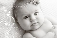 3 month old baby portrait