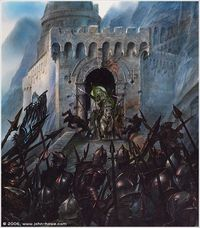 The Charge of the Rohirrim at Helm's Deep -- John Howe.