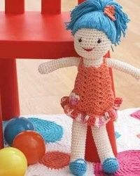 Make your little girl a new doll to add to her collection. This quick and easy crochet doll is an easy crochet pattern you can make in no time. She'll love it as a gift.