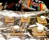 Indoor Smores for when you don't have time to camp.