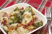 Three Cheese Mac & Cheese with Roasted Broccoli & sun Dried Tomatoes