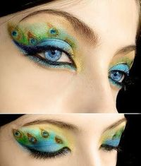 Halloween Eye Makeup-- a bunch of neat ideas on this page.