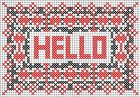 cross stitch pattern (postcard)