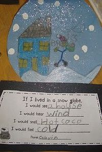 Snowglobe writing