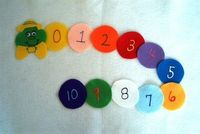 Counting Caterpillar Numbers Flannel Board Felt by feltresources