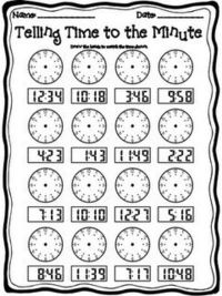 2nd grade telling time worksheets school planning juxtapost. Black Bedroom Furniture Sets. Home Design Ideas