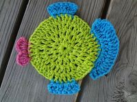Free Crochet Pattern...Fabulous Fish Dishcloth!