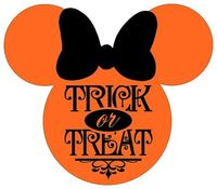 Personalized Trick or Treat Halloween Minnie OR Mickey Mouse DIY Iron on Decal