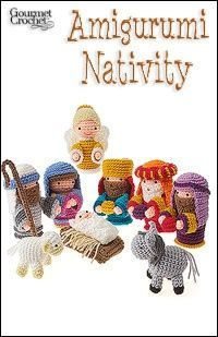 This is like my amigurumi nativity scene. I still need a donkey, an angel and the three wise men (and shepherds).
