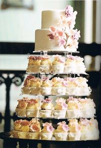 a cupcake for everyone, but your own special cake - Click image to find more Wedding & Events Pinterest pins
