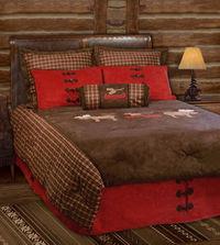 Moose Plaid Bed In A Bag Set