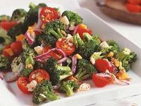 Marinated Broccoli-Tomato Salad. This salad is delicious. Added some good Shredded Parmigiano Reggiano cheese instead.