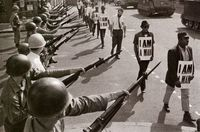 Civil Rights. I am never free, while others are oppressed.