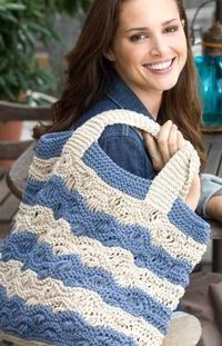 Red Heart: Waves Tote Bag Knitting Pattern