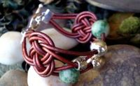 Leather knotted jewelry