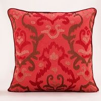 Chili Pepper Ikat Throw Pillow | World Market