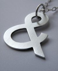 You & Me ampersand pendant