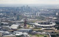 Aerial photo of the Olympic Park