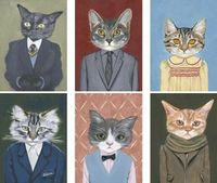 CATS IN CLOTHES BY HEATHER MATTOON Ahh, I can't handle these! :)