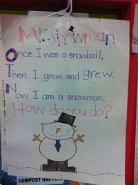 another cute snowman poem