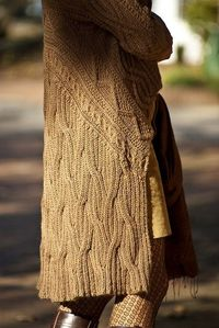 b70a7451f11e8f ... easy trendy cardigan pattern by Vicky Chan. View More.  30 Aran Wrap  Cardigan by Angela Hahn