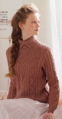 Japanese Knitting Patterns : Japanese knitting pattern for cabled & twisted stitch sw ...