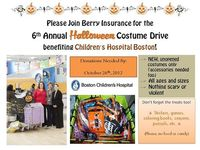 It's that time of year again! Berry & Four Points by Sheraton Norwood are holding the 6th annual #Halloween Costume Drive benefiting Children's Hospital Boston! #Massachusetts
