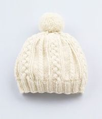 Cute winter hat! Maybe make without pom-pom...
