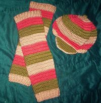 stripes legwarmers
