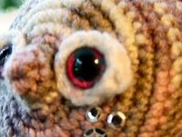 Amigurumi eyes, Purple with blue dots, by CuteVoodoo