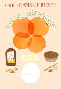 peaches and icecream