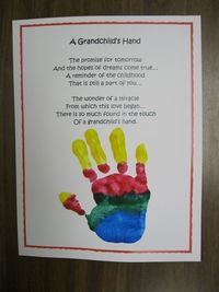 Grandparent's Day Hand Print Poem