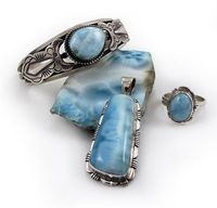 Dominican jewelry made with Larimar stones