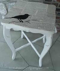 Songbird table....amazing! But I could also do a similar thing in a picture frame.