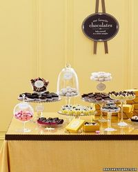 Chocolate buffet table