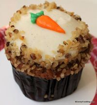 Reviewing two new Carrot Cake Cupcakes in Disney World!