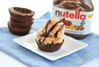 Nutella Brownie Bowls for Ice Cream