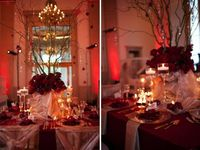 Love sultry red weddings...
